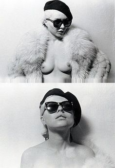 "Deborah Ann ""Debbie"" Harry (American) (singer) of Blondie (topless) (front)"