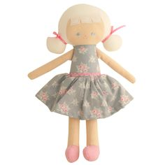 Alimrose - Audrey Doll in Grey Floral