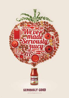 Creative Advertising Inspiration Lovely graphics and typography for Heinz sauces, designed by DDB from New Zealand. Creative Advertising, Print Advertising, Print Ads, Advertising Ideas, Advertising Campaign, Advertisement Examples, Pizza Logo, Web Design, Food Design