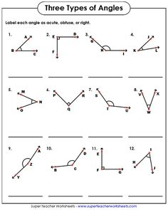 Angle Pair Relationships Worksheet