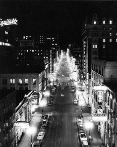 Downtown #Portland, #Oregon; January 1954