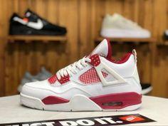 cd02131585ad4e Air Jordan 4 Alternate 89 White university red 308497-106 Mens Womens  Basketball Shoes