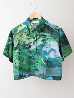 RICHARDS Cropped Summer Shirt - Fantasy