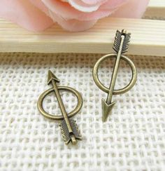 15pcs Antique Brass Arrow Charm Pendant  by FullLoveAccessories