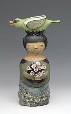 ceramic figure bird by Sara Swink