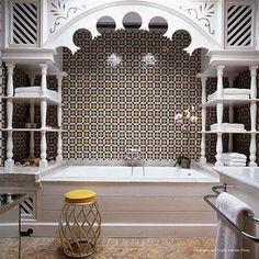 Baño de estilo arabe