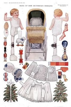 Hang Up Baby Butterick's Christmas Stocking - by Ella Dolbear Lee, Delineator, January 1914