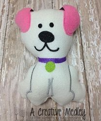 Dog Softie, In The Hoop - 3 Sizes! | In the Hoop | Machine Embroidery Designs | SWAKembroidery.com