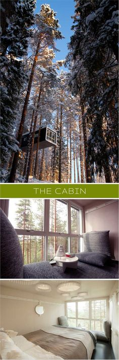 http://www.treehotel.se  Summer images: Peter Lundstrom, WDO  |  Winter images: Fredrik Broman, Human Spectra
