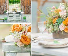 Rustic spring wedding #weddingdecor #springwedding #rusticwedding #tablescape #tablesetting