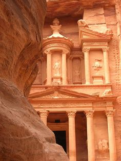 """""""A rose-red city, half as old as time."""" - the ancient city of Petra, Jordan"""