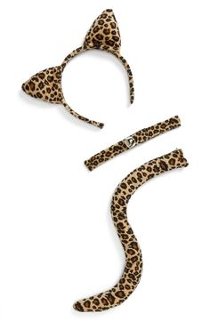 Lulu 'Cheetah' Set (Juniors) available at Cheetah Halloween Costume, Halloween Costume Accessories, Halloween Outfits, Halloween Costumes, Cat Ears Headband, Ear Headbands, Cat Ears And Tail, Girl Costumes, Sewing Tips
