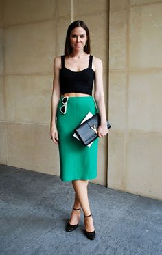 Spring/Summer Trend- The crop top. Show a little or a lot. Very chic paired with a long pencil skirt