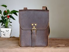 Leather Ipad / Gadget  Bag by Marlondo Leather via Etsy