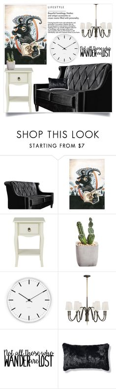 """""""Not all those who wander are lost!"""" by samra-bv ❤ liked on Polyvore featuring Armen Living, Rosendahl, Frontgate, art, homedecor, homedesign and homeart"""