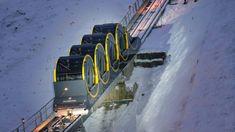 En Suiza el funicular más empinado del mundo