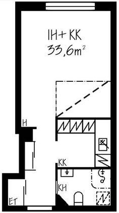 Vaasankatu, Kallio, Helsinki, 1h+kk 33,6 m², SATO vuokra-asunto