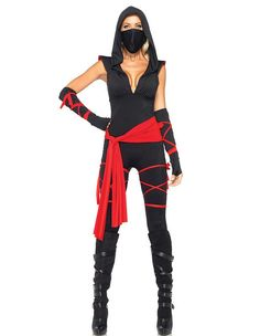 Classic Ninja Girl Womens Halloween Costume