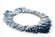 Porcelain necklace by Beate Pfefferkorn