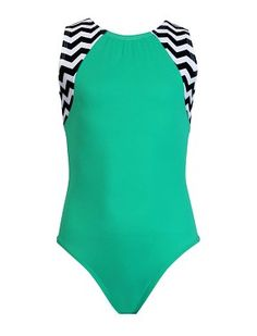 Leotards | Gymnastic Workout Clothes | k-Bee Leotards - Chevron/Mint Victory Leotard - k-Bee Leotards