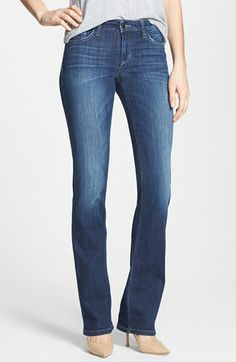 A versatile blue wash and light fading offer flattering dimension to bootcut jeans designed to fit a curvy figure. Color(s): beaven. Brand: JOE'S. Style Name: Joe's Curvy Bootcut Jeans (Beaven). Style Number: 205143.
