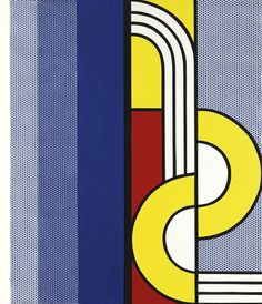 'Modern Painting With, Yellow Interweave' (1967) by Roy Lichtenstein