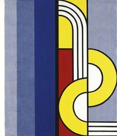 'Modern Painting With, Yellow Interweave' (1967) by Roy Lichtenstein