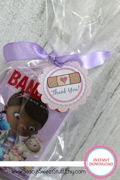 Doc McStuffins Birthday Favor Tags  DIY by StacysSweetStuff on Etsy, $5.00
