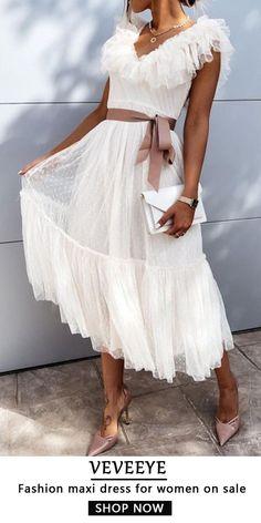 Fashion Mode, Party Fashion, Look Fashion, Fashion 2020, Womens Fashion, Beach Dresses, Modest Dresses, Summer Dresses, Maxi Dresses