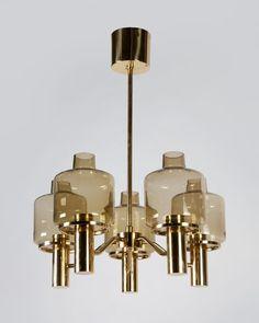Lovely Antique Brass Chandelier