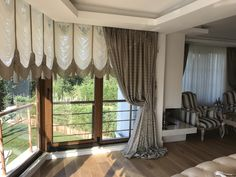 Bed In Living Room, Living Room Images, Small Living Rooms, Window Treatments Living Room Curtains, Curtains Living, Luxury Curtains, Elegant Curtains, Living Room Color Schemes, Paint Colors For Living Room