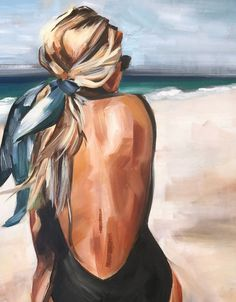 Salty blonde oil print, oil painting beach fashion portrait - art - Salty blonde oil print Oil painting beach fashion portrait - painting ideas for beginners Portraits Illustrés, Portrait Paintings, Portrait Art, Beach Portraits, Fashion Portraits, Famous Artists Paintings, Abstract Portrait, Watercolor Portraits, Family Portraits