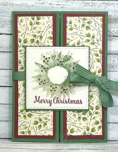 It's Border Buddy Saturday and it's Alison here today! I'm sharing another project that used the Painted Autumn Suite of products including the Painted Harvest stamp set and Painted A Christmas Cards 2017, Stamped Christmas Cards, Homemade Christmas Cards, Hand Stamped Cards, Xmas Cards, Handmade Christmas, Homemade Cards, Holiday Cards, Christmas Crafts