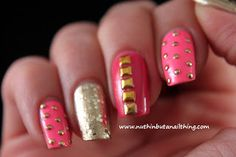 Sinful Colors - pink studded nails