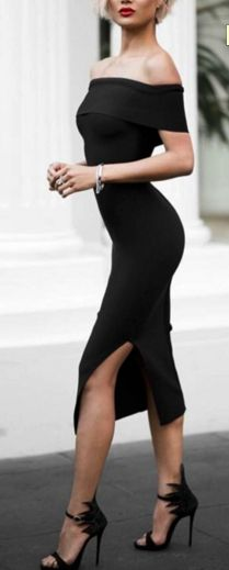 beautiful off the shoulder bodycon dress