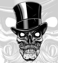 "1,445 Me gusta, 21 comentarios - Jared Mirabile (@sweyda) en Instagram: ""DONE proper.  #pencil #sketch to #vector #skull #illustration #gangsofnewyork #billthebutcher…"""