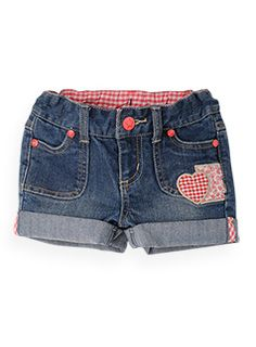::patch work denim shorts  $27.50 Jeans, Denim Shorts, Fashion Photo, Kids Fashion, Girls Pants, Hot Pants, Me Too Shoes, To My Daughter, Little Girls