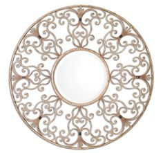 Aged Ivory Mirror with Black Details    Click here to purchase: http://www.houzz.com/photos/22130579/lid=10855643/Aged-Ivory-Mirror-with-Black-Details-mediterranean-mirrors