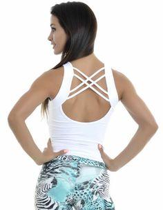 Regata 81 Baby Branca - LudFit   Moda Fitness   Roupa para ginástica