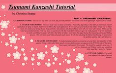 Tsumami Kanzashi Tutorials and Resources by Kurokami-Kanzashi on deviantART-- from fabric prep to final assembly.