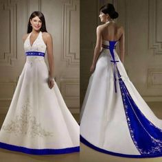 blue wedding dress halter promotion shop for promotional blue pertaining to white  wedding dress with black embroidery e88c60fdd
