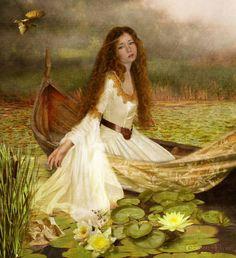 Avalon Camelot King Arthur:  The Lady of Shallot.                              …