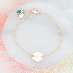 Lealia Hexagon Personalised Bracelet - gifts for her