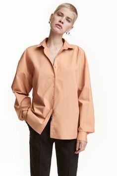 Свободная хлопковая рубашка   H&M