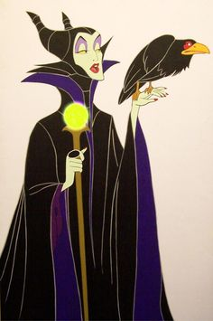 Disney's Maleficent and Diablo by cbgorby on deviantART