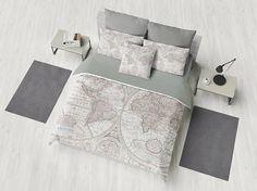 World Map Duvet Cover bed bedroom travel decor cozy
