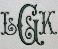 Romance Monogram Embroidery Font | Apex Embroidery Designs, Monogram Fonts & Alphabets