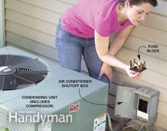 Summer's almost here and problems with your central air conditioner can crop up. Before making that expensive repair call you may want to check the fuses.  Here's how: