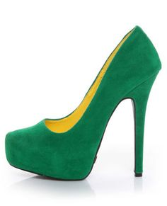 Green and yellow pumps. Those that know me well know my love of all things green.