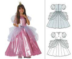 Robe de princesse rose poudrée, robe de princesse fille